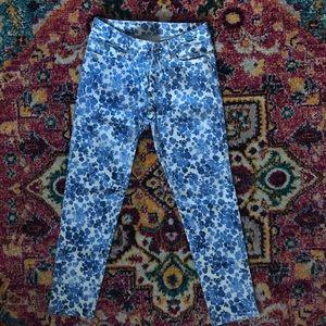 Michael Kors cropped flower jeans